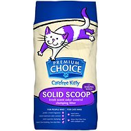 Premium Choice Carefree Kitty Fresh Scent with Baking Soda Solid Scoop Cat Litter, 25-lb bag