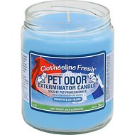 Pet Odor Exterminator Clothesline Fresh Deodorizing Candle, 13-oz jar