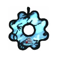 Tuffy's Junior Gear Ring Dog Toy, Camo Blue