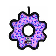 Tuffy's Junior Gear Ring Dog Toy, Pink Leopard