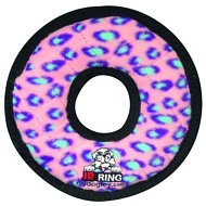 Tuffy's Junior Ring Dog Toy, Pink Leopard