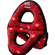 Tuffy's Ultimate 3-Way Ring Dog Toy, Red Paws