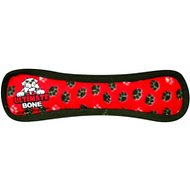 Tuffy's Ultimate Bone Dog Toy, Red Paws