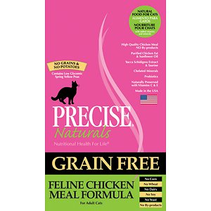 Precise Naturals Grain-Free Feline Chicken Meal Formula Adult Dry Cat Food, 12-lb bag