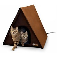 K&H Pet Products Outdoor Heated Multi-Kitty A-Frame House