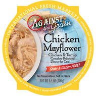 Against the Grain Chicken Mayflower & Turnip Dinner Grain-Free Wet Cat Food, 3.5-oz tray, case of 12