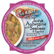 Against the Grain Tuna Aubergine with Seabass & Eggplant Dinner Grain-Free Wet Cat Food, 3.5-oz, case of 12