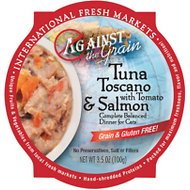 Against the Grain Tuna Toscano with Tomato & Salmon Dinner Grain-Free Wet Cat Food, 3.5-oz, case of 12