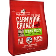 Stella & Chewy's Carnivore Crunch Cage-Free Duck Recipe Freeze-Dried Dog Treats, 3.25-oz bag
