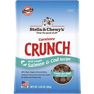Stella & Chewy's Carnivore Crunch Wild-Caught Salmon & Cod Recipe Freeze-Dried Dog Treats, 3.25-oz bag
