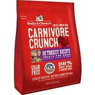 Stella & Chewy's Carnivore Crunch Cage-Free Turkey Recipe Freeze-Dried Dog Treats, 3.25-oz bag