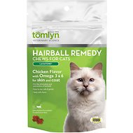 Tomlyn Laxatone Hairball Remedy Chicken Flavor Cat Chews, 60-count