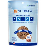 Nutrisca Solos Beef Liver Freeze-Dried Dog Treats, 1.5-oz bag