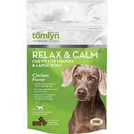 Tomlyn Relax & Calm Chicken Flavor Medium & Large Dog Supplement, 30-count