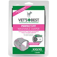 Vet's Best Perfect-Fit Washable Diaper for Female Dogs, XX-Small/X-Small