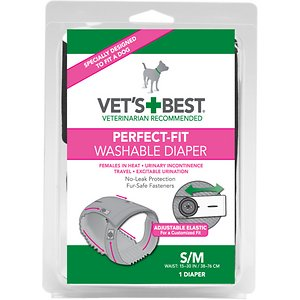 Vet's Best Perfect-Fit Washable Diaper for Female Dogs, Small/Medium