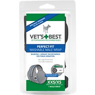 Vet's Best Perfect-Fit Washable Wrap for Male Dogs, XX-Small/X-Small