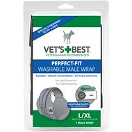 Vet's Best Perfect-Fit Washable Wrap for Male Dogs, Large/X-Large