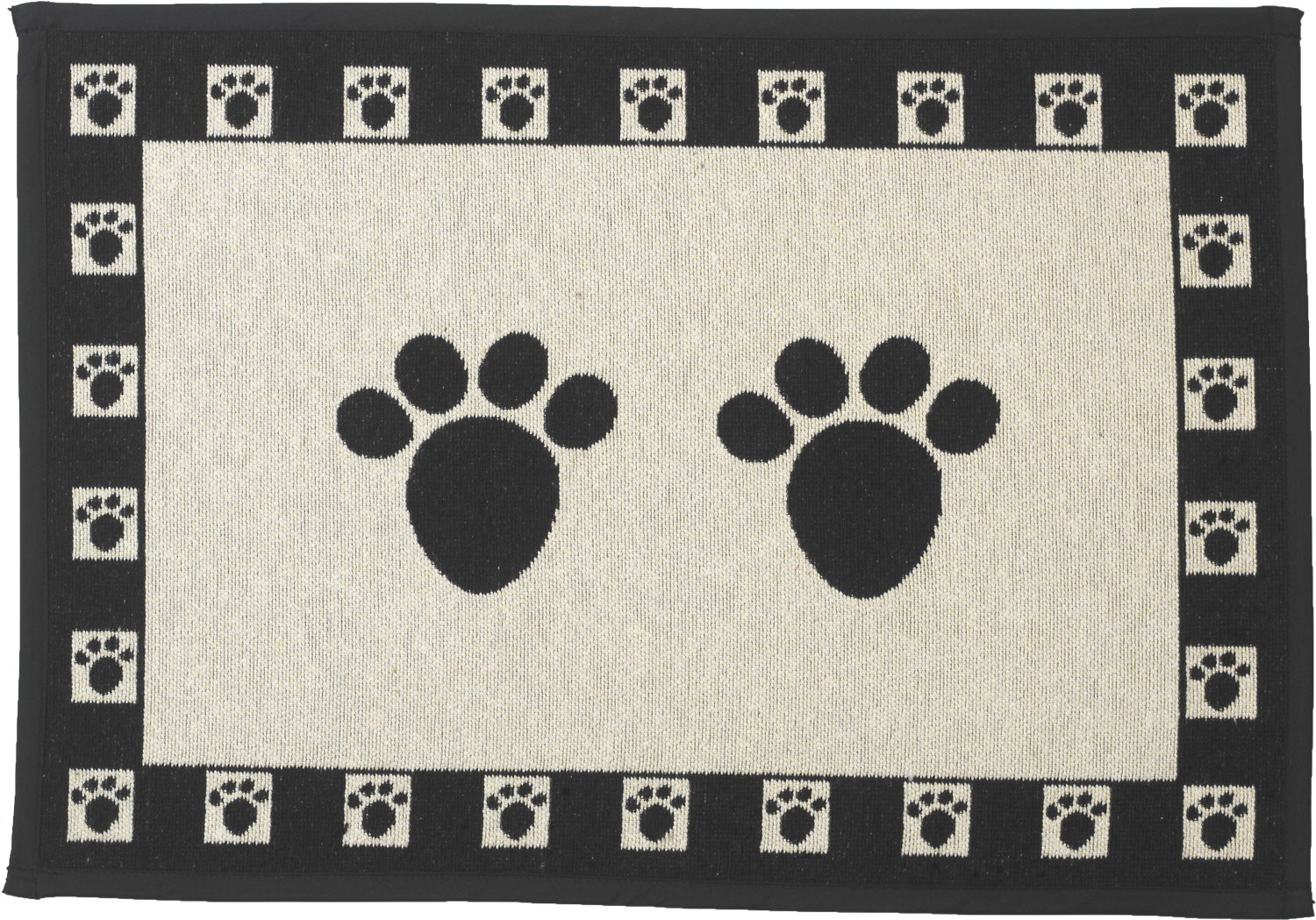 PET RAGEOUS Designed Tapestry Placemat for Pet Feeding Station Natural//Multi One Spoiled Dog 13-Inch by 19-Inch