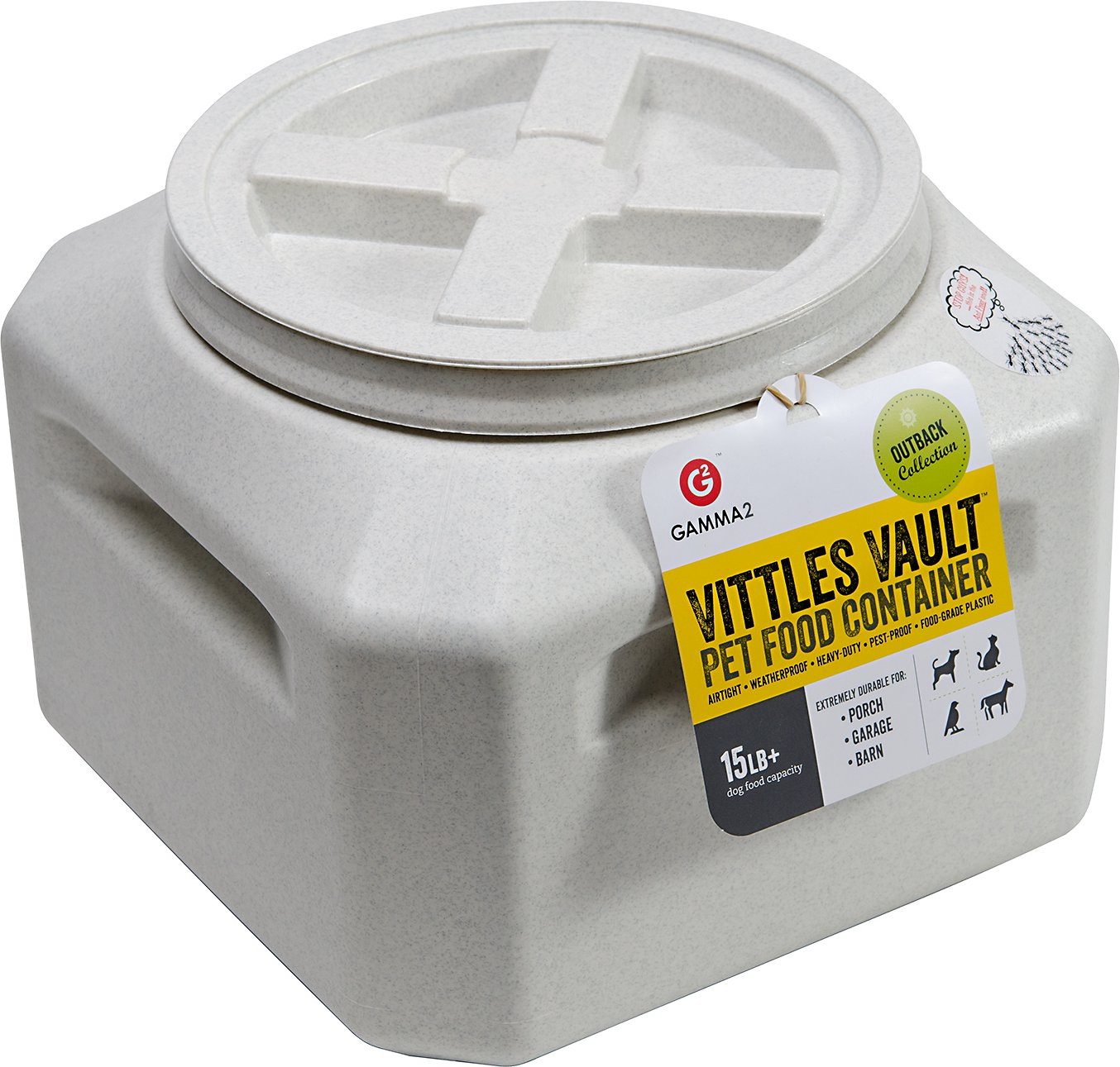 Gamma2 Vittles Vault Plus Pet Food Storage, 15-lb