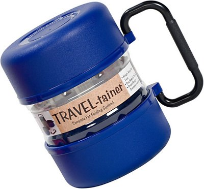 Gamma2 Travel-tainer Complete Dog & Cat Feeding System, Blue