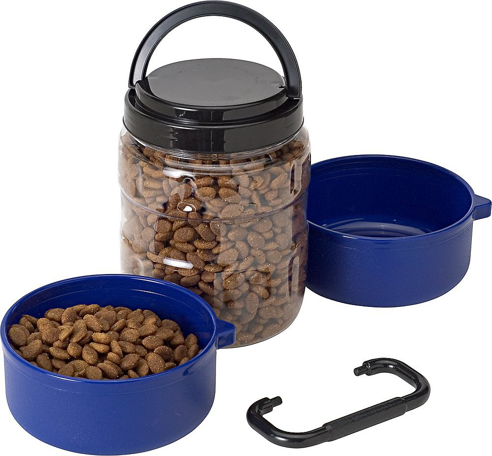 Gamma2 Travel-tainer Complete Pet Feeding System, Blue - Chewy.com
