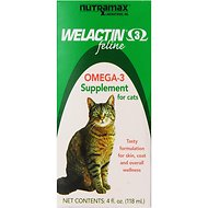 Nutramax Welactin Feline Omega-3 Cat Liquid Supplement, 4-oz bottle