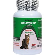 Nutramax Welactin Feline Omega-3 Softgel Capsules Cat Supplement, 60 softgels