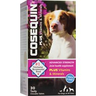 Nutramax Cosequin Advanced Strength Joint Health Plus Vitamins & Minerals Chewable Tablets Dog Supplement, 30 count