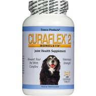 Nutramax Curaflex 2 Joint Health Chewable Tablets Dog Supplement, 120 chewable tablets
