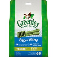 Greenies Hip & Joint Care Teenie Dental Dog Treats, 65 count