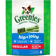 Greenies Hip & Joint Care Regular Dental Dog Treats, 6 count