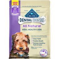 Blue Buffalo Dental Bones All Natural Large Dog Treats, 27-oz bag