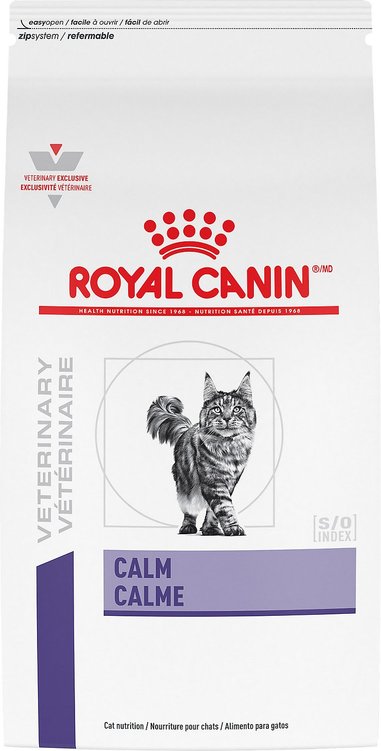 royal canin veterinary diet calm formula dry cat food 4 4 lb bag. Black Bedroom Furniture Sets. Home Design Ideas