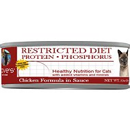 Dave's Pet Food Restricted Diet Protein & Phosphorus Chicken Formula in Sauce Grain-Free Canned Cat Food, 5.5-oz, case of 24
