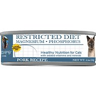 Dave's Pet Food Restricted Diet Magnesium & Phosphorus Grain-Free Pork Recipe Canned Cat Food, 5.5-oz, case of 24