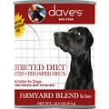 Dave's Pet Food Restricted Diet Protein & Phosphorus Farmyard Blend in Sauce Grain-Free Canned Dog Food