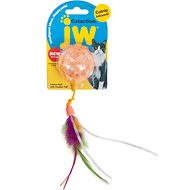JW Pet Cataction Lattice Ball with Feather Tail Cat Toy
