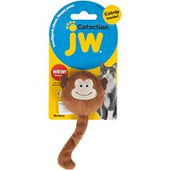 JW Pet Cataction Plush Monkey with Catnip Cat Toy