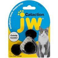 JW Pet Cataction Pom Pom Triangle with Catnip Cat Toy