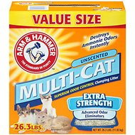 Arm & Hammer Litter Multi-Cat Strength Clumping Litter, 26.3-lb box