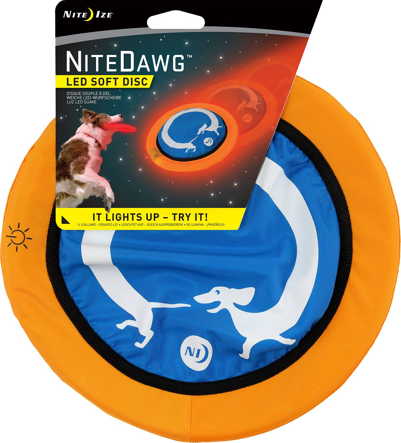 Nite Ize Nite Dawg Led Soft Disc Dog Toy Chewy Com