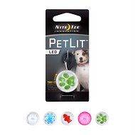 Nite Ize PetLit LED Collar Light, Lime Paw