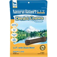 Natural Balance L.I.T. Dental Chews Duck Meal Formula Dog Treats, Medium/Large