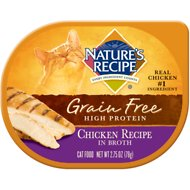 Nature's Recipe Grain-Free Chicken Recipe in Broth Wet Cat Food, 2.75-oz, case of 24