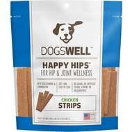 Dogswell Happy Hips Chicken Strips Dog Treats, 12-oz bag
