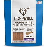 Dogswell Happy Hips Duck Strips Dog Treats, 12-oz bag