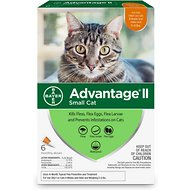 Advantage II Flea Treatment for Cats 5 lbs to 9 lbs & Ferrets, 6 treatments