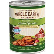 Whole Earth Farms Grain-Free Adult Recipe Canned Dog Food, 12.7-oz, case of 12