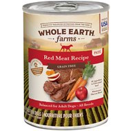 Whole Earth Farms Grain-Free Red Meat Recipe Canned Dog Food, 12.7-oz, case of 12